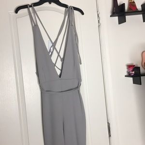 Grey SPRING pants romper from Missguided! Strap up